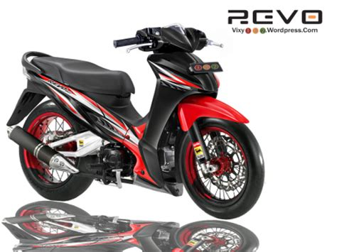 Kolong Acrylic Vixion New Merah 1 modifikasi revo modifikasi honda bebek revo 110 modifikasi