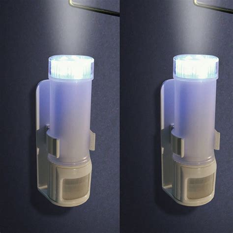 bathroom light sensor set of two stick on motion sensor lights traditional home improvement