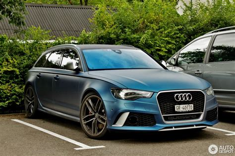 Blue Audi Rs6 by Matte Blue Audi Rs6 Is A Sight To Behold