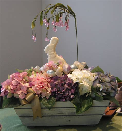 easter arrangements white chocolate bunny easter arrangement for your table normal