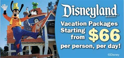 day getaway packages disneyland resort vacation packages from 66 per person day