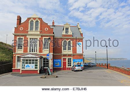 cineplex whitby theatre pavilion whitby north yorkshire stock photo