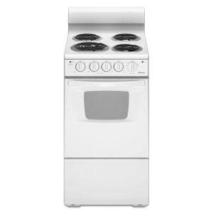 home depot electric stoves amana 2 6 cu ft electric range in white aep222vaw the