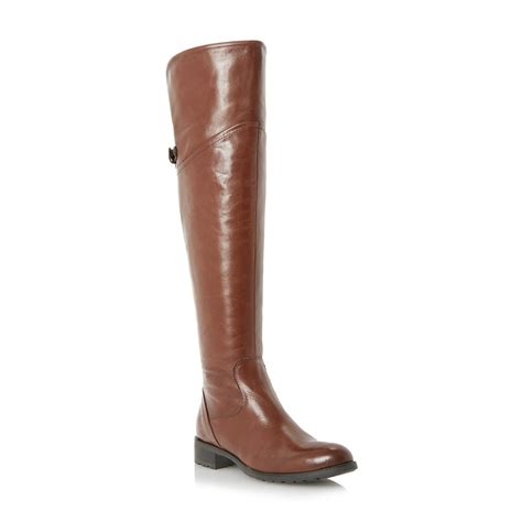 hobbs jacque over the knee boots 349 dune ladies totton womens tan brown over the knee riding