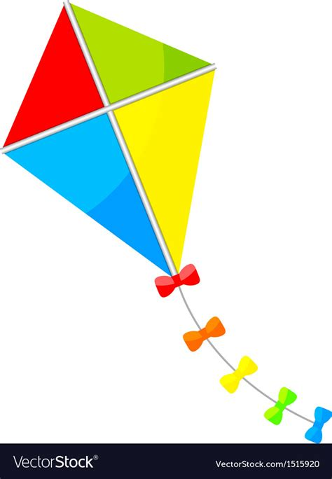 colorful bows colorful kite bows royalty free vector image vectorstock