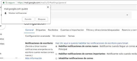 gmail de escritorio c 243 mo configurar notificaciones de gmail en el escritorio