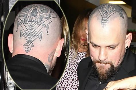 cameron diaz tattoo benji madden debuts skull on his while