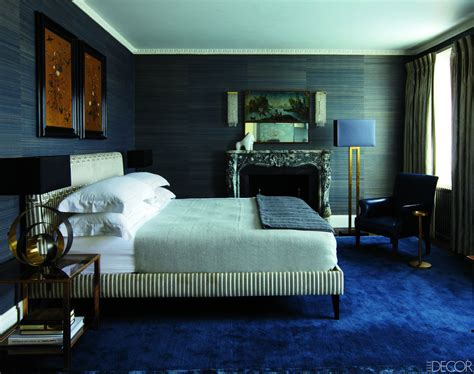 bedroom ideas with blue carpet grass cloth walls and a peacock blue carpet add textural