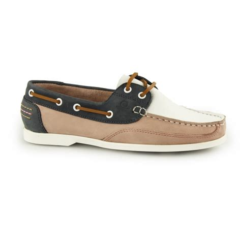 boat shoes ladies uk chatham julie ladies leather boat shoes white navy pink