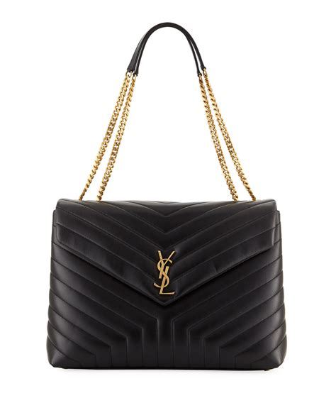 saint laurent loulou monogram ysl large  flap chain