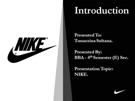 Nike Presentation Authorstream Nike Powerpoint Template