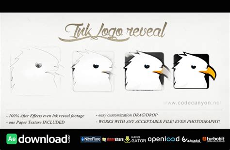 templates after effects videohive logo ink reveal free download videohive template free