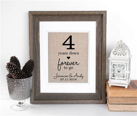 25 best ideas about 4th anniversary gifts on 4th anniversary 4th wedding