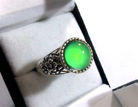 silver mood ring mood jewelry real mood ring color