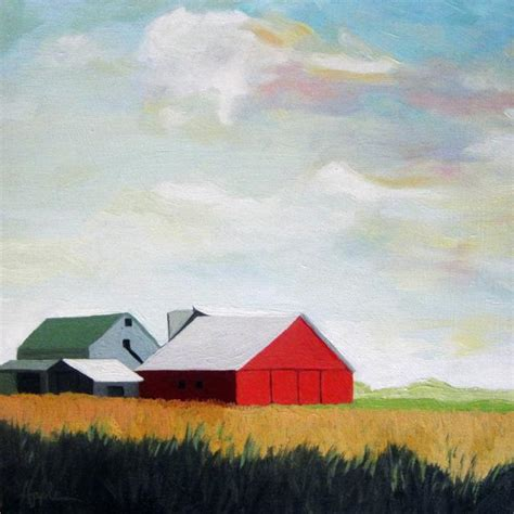 country farm paintings with barn country ohio farm landscape barn original painting