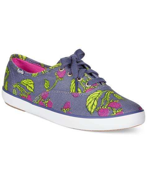 s keds sneakers lyst keds s chion printed oxford sneakers in purple
