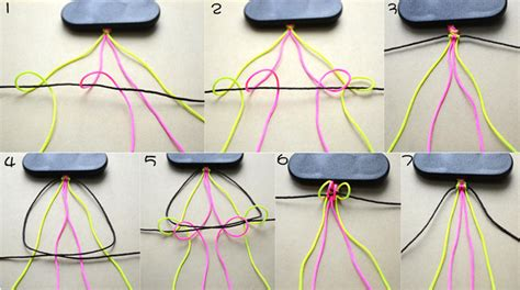 How To Make A String - how to make diy 6 string braided friendship bracelet