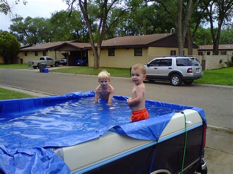 truck bed pool truck bed 10 awesome vehicles converted to swimming