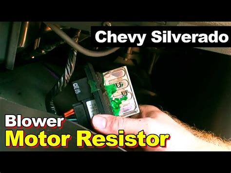 how to replace blower motor resistor 2004 silverado how to install replace heater ac blower motor chevy silverado tahoe 99 02 1aauto