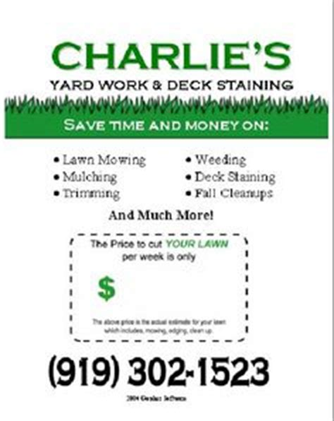 lawn care business plan template free new flyer gopher template lawnsite lawn care