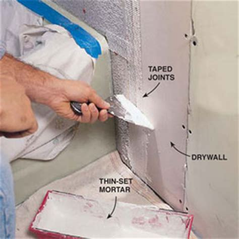 how to install cement board around bathtub how to install cement board in bathroom creative home designer