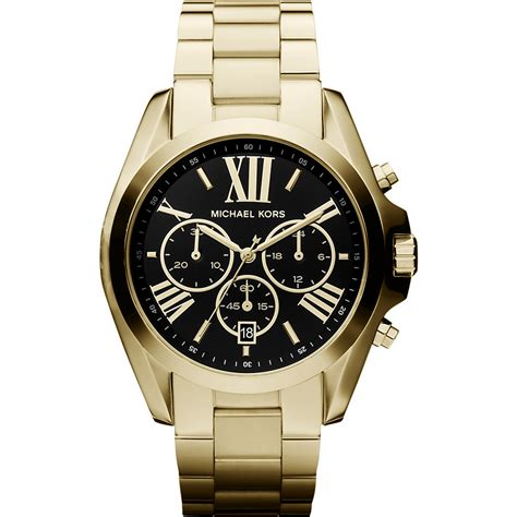 new michael kors mk5739 bradshaw large black gold