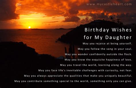 Birthday Wishes Quotes For My Birthday Wishes For My Daughter My Castle Heart Publications