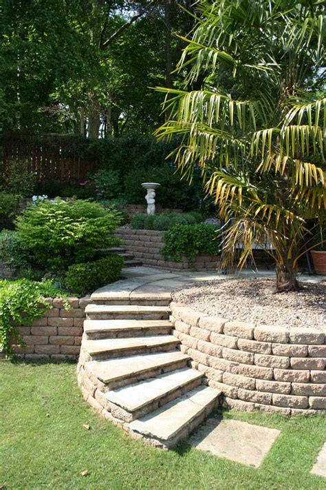small backyard landscape design ideas sloping garden design ideas quiet corner