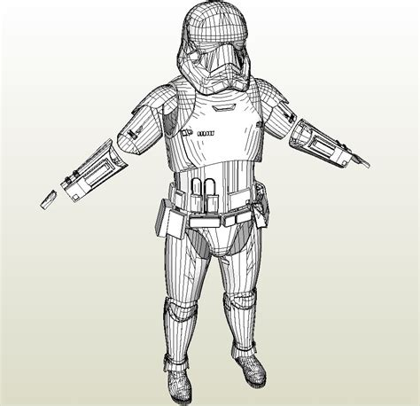 wars galaxy armor templates with updated papercraft pdo file template for wars ep 7