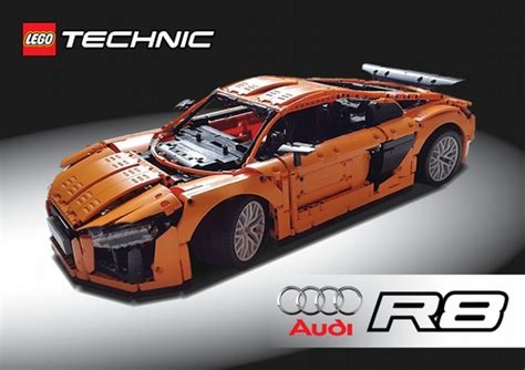 lego audi r8 lego technic audi r8 v10 2017 a lego 174 creation by
