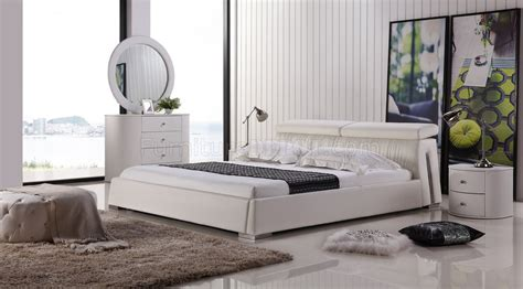 angel beds angel bed in white half leather by casabianca