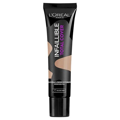 L Oreal Infallible Total Cover Foundation buy l oreal infallible total cover foundation 21 golden
