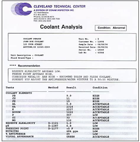 technical analysis report template word technical report template diesel engine coolant