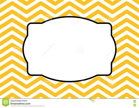 pattern with frame modern frame zigzag pattern background stock illustration