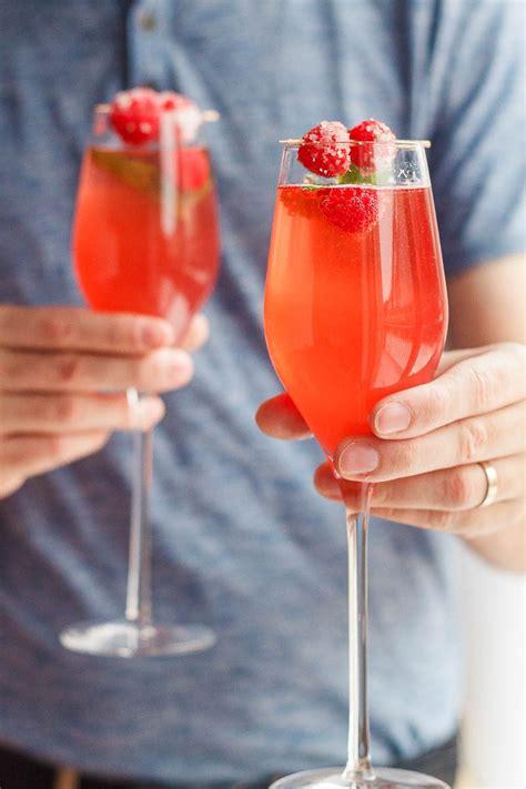 raspberry mimosas cocktail recipe eatwell