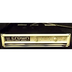 Power Lifier Crown 3600 used crown macrotech 3600vz power guitar center