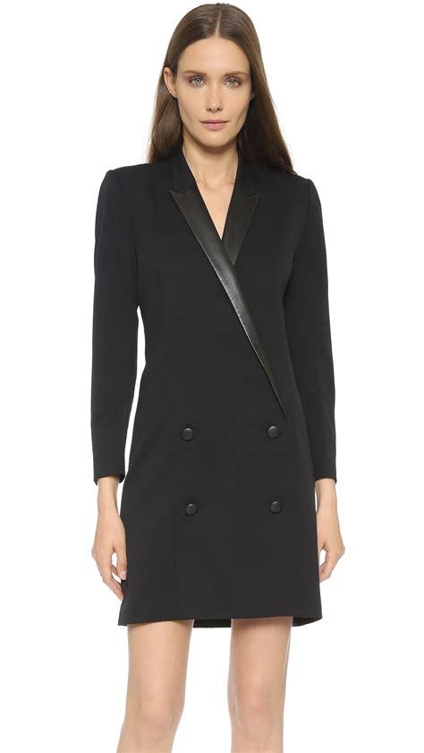 Dress Coats lyst the kooples coat shaped dress black in black