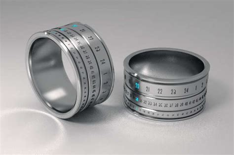 Rings In Time by Revolutionary Time Telling Rings Ring Clock