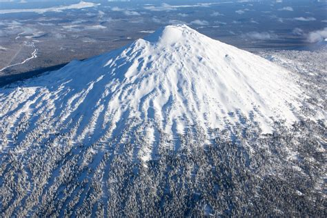 Home Plane by Mt Bachelor Aerial Photography Bend Oregon Stock Photography