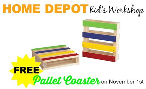 free pallet coaster at home depot workshop