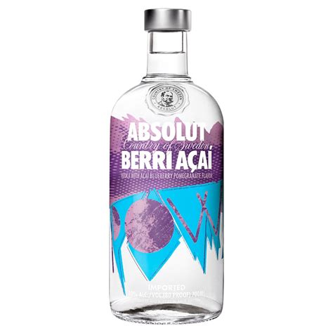 absolut berri acai vodka cl drinksupermarket