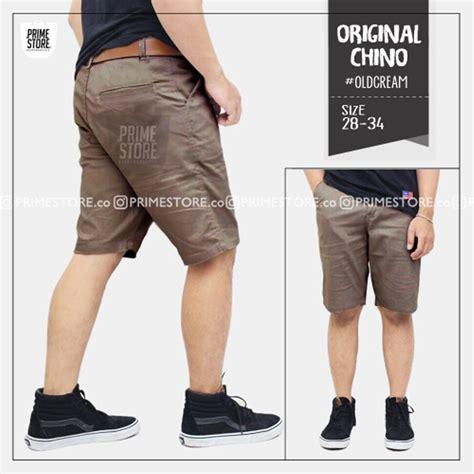 Parka Kaos Abu Grey jual celana pendek pria cotton twill premium di lapak