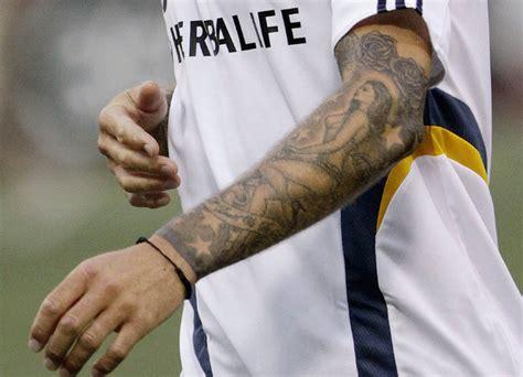 tattoo beckham right arm david beckham david beckham s tattoos digital spy