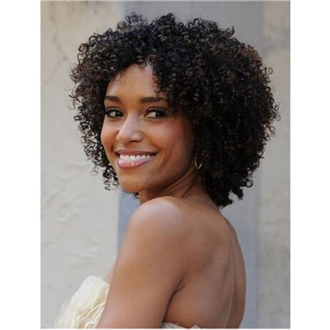 kinky curly short weaves for black woman salomon cute short kinky curly synthetic hair wigs 14