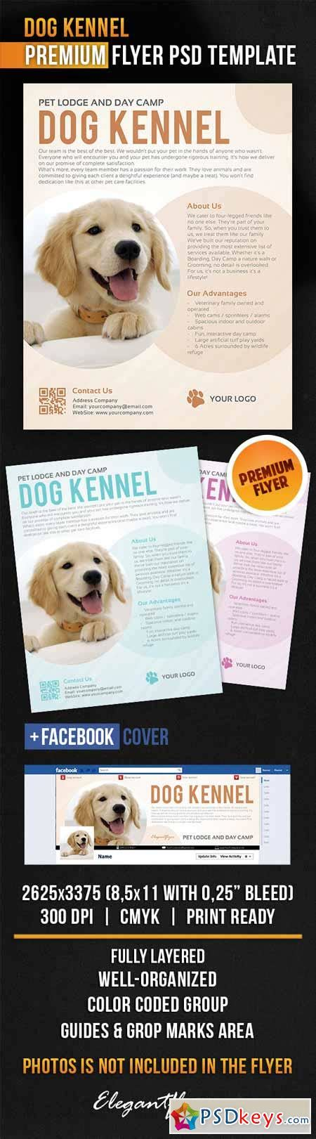 dog kennel flyer psd template facebook cover 187 free