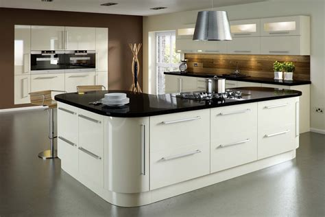 welford cream luca gloss alabaster kitchens buy alabaster high gloss acrylic slab kitchen 171 eco bradford