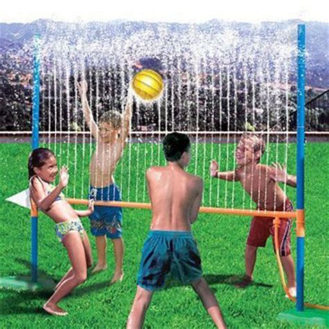 backyard water games play water volleyball attach your hose to the aqua blast