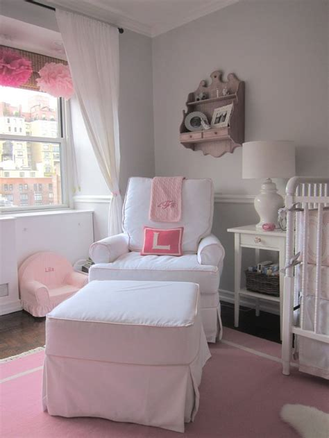 ottoman for baby room pink and gray elephant nursery baby girls ottomans and
