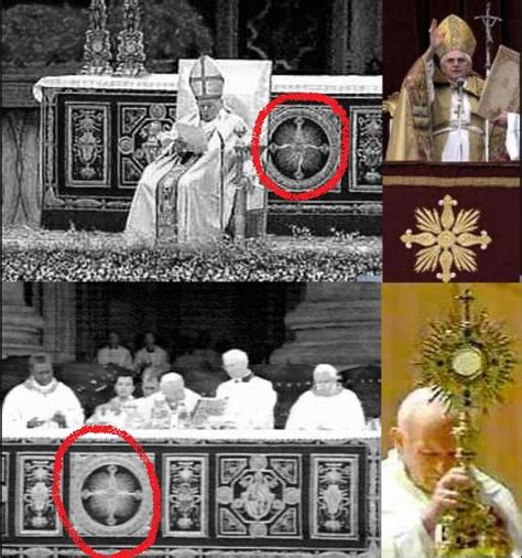 imagenes no tan ocultas del vaticano la casita de isabel simbolos paganos y satanicos usados