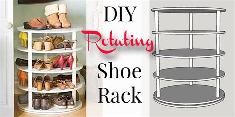 shoe carousel diy remodelaholic rotating shoe rack building plan
